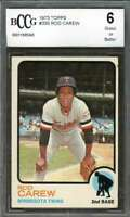 Rod Carew Card 1973 Topps #330 Minnesota Twins BGS BCCG 6