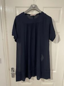 See By Chloe Double Layered Dress - Navy