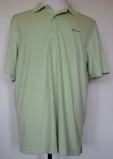 Greg Norman Play Dry Light Green S/S Polyester Polo Golf Shirt L