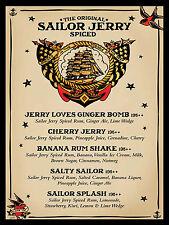 Sailor Jerry Rum, rétro en métal aluminium Vintage signe, garage, cadeau, Bar/Pub
