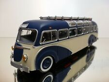 EPM ISO BLOC PANORAMIQUE 1955 AUTOBUS COACH - BLUE + CREAM 1:43 - VERY GOOD