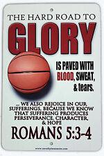 "8""x12"" METAL SIGN Christian Basketball, Sports Gym Kids Room Upward NBA Curry"