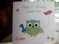 Handmade Personalised Boys Birthday Card Nephew Son Godson Grandson 1st 2nd 3rd