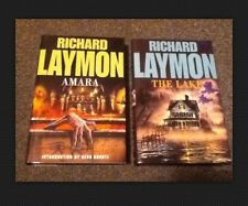 RICHARD LAYMON - 4 x PAPERBACK FLESH QUAKE & 2 x HARDBACK AMARA THE LAKE