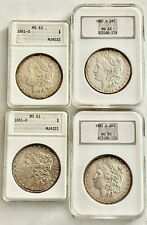 Discount_4- Ngc/Anacs 1881-O Certified Morgan Silver Dollars, See Other Morgans