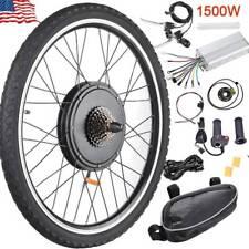 """26"""" E-Bike 48V 1500W Rear Wheel Electric Bicycle Hub Motor Rim Conversion Kit"""