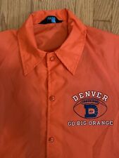 Vintage 1970's Champion Of Rochester Denver Broncos Go Big Orange Coaches Javket