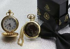 Peaky Blinders Gold Pocket Watch and Chain Luxury Case By Order of Birmingham