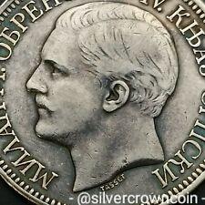 SCC Serbia 5 Dinara 1879. KM#12. Silver Crown Dollar coin. Milan I as Prince.