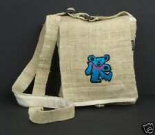 Hemp Purse Grateful Dead Dancing Bear Blue Hippie Boho Crossbody Bag New