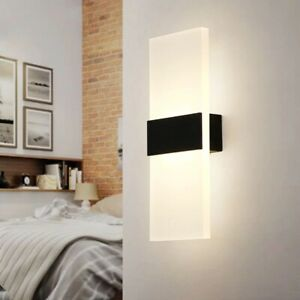 LED Wall Light Up Down Cube warm White Indoor Sconce Lighting Fixture Modern 3W