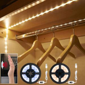 LED Capteur de Main Ruban Guirlande Bande de Lumière Armoire Cuisine Éclairage