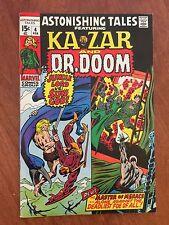 Marvel ASTONISHING TALES #4 (1970) KA-ZAR & DOCTOR DOOM    WOW!