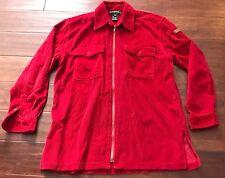 Ralph Lauren Women's Red Corduroy Shirt Jacket Coat Zip Closure Sz Petite Small