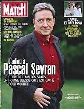 """REVUE """"PARIS MATCH N°3078- 2008"""" Pascal SEVRAN Jamel & Melissa Catherine DENEUVE"""
