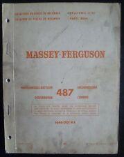 Massey Ferguson Mähdrescher 487 Ersatzteil-Liste