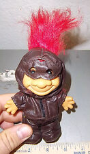 Troll Doll Aviator with red hair, 5 inches tall super cute! great collectible