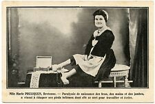 PHéNOMèNE CURIOSITé. PERSONNAGE LOCAL. MARIE POULIQUEN. PARALYSéE DE NAISSANCE.