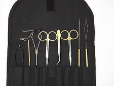 Fly tying tool kits, 8pcs. in a pouch, fly tying tools,vice, material  ( FT 67 )