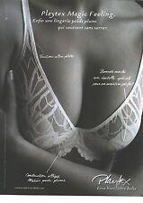 PUBLICITE ADVERTISING 2010  PLAYTEX soutien  gorge Magic feeling