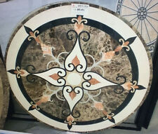 INLAY 2' MARBLE DINING CORNER SOFA TABLE TOP MOSAIC SIDE Floral Decor Art