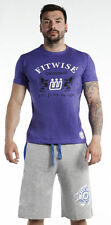 Men's Short Sleeve T-Shirts Casual Fashion Wear Cotton Gym Fitness Tops Purple