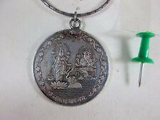 Antiguo buda Ganesha & Guan Yin Sterling plata amuleto & haskette, india 1963