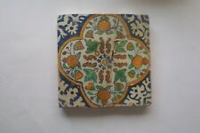 Delft Tile 18th century (Z 43)     Fruit and flowers