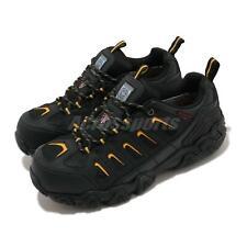 Skechers Blais Steel Toe Black Yellow Men Waterproof Work Shoes 77051-BKYL