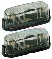 2x JOKON PL96 WHITE CLEAR FRONT MARKER LAMPS LIGHTS CARAVAN MOTORHOME CAMPER VAN