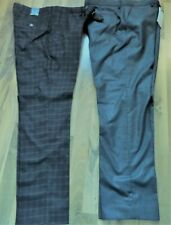 2 PAIRS Pants-STEEL & JELLY/TAYLOR & HUNT fashion designer-TAILORED- SLIM FIT