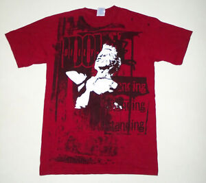 BILLY IDOL Band T-Shirt VINTAGE 2005 All Over Print DANCING STANDING Red : SM