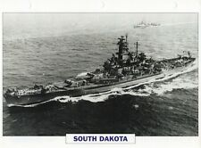 1941 USS SOUTH DAKOTA (BB-57) Battleship / Warship Photograph Maxi Card /