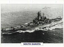 1941 USS SOUTH DAKOTA (BB-57) Battleship / Warship Photograph Maxi Card /