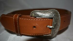 Rope Edge Western Belt by Nocona - Size 28 - Chestnut