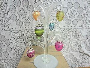2013 AVON Elegant Egg Glass Tree - Hand Blown Mini Eggs