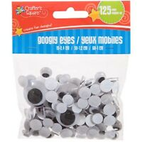 Assorted Crafter's Square Plastic Googly Eyes, 125-ct. Packs US Seller