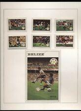 Belize 1982 Mondiali di calcio in Spagna serie cpl e 1 BF integra MNH T307