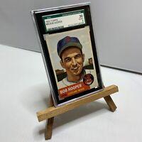 1953 Topps SGC 30 Good 2 #84 Bob Hooper Card Cleveland Indians