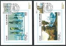 2000 ITALIA CARTOLINA MAXIMUM NATURA E CITTA ANNULLO FDC - ED