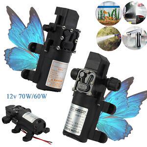 Wasserpumpe Selbstansaugende Pumpe 12V 70W/60W Hochdruckpumpe Membranpumpe Pumpe