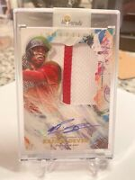 2020 Topps Inception - Rafael Devers - Auto Jumbo Patch 9/90 Red Sox Pinstripe