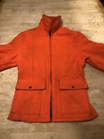 Vintage Dickies Orange Hunting Parka Lined Collar Jacket Coat Size L Made In USA