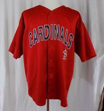ST LOUIS CARDINALS~Logo Athletic~SS~Button Down~Sz XL~Jersey~See Disclosure