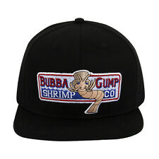 Bubba Gump Hat Forrest Gump Embroidered Snapback Baseball Cosplay Hat Black New