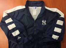 Adidas MLB New York Yankees Baseball Authentic Windbreaker Zip Front Jacket L