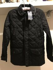 Polo Ralph Lauren ladies black quilted jacket with leather details sz XS BNWT