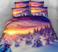 Splendid Snow 3D Printing Duvet Quilt Doona Covers Pillow Case Bedding Sets