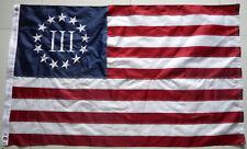 3x5 Ft Embroidered Nylon Betsy Ross Nyberg Iii Flag 3 Percent 3% Threeper Flag