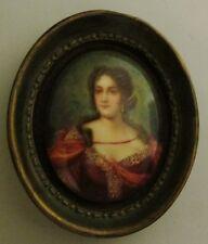 Fine 19th C. Hand-painted Porcelain Plaque of Young Woman  c. 1890  antique